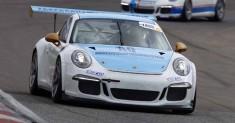Andrea Fontana attende il via di Monza della Porsche Carrera Cup Italia