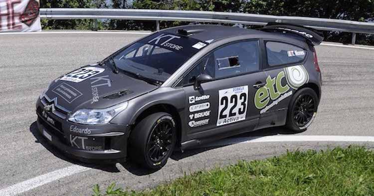 Le due Citroën C4 WRC di T. Nones e di G. De Tisi sul podio di Gruppo A