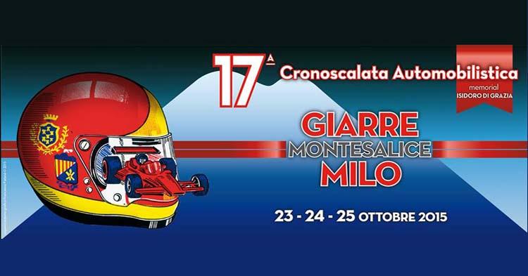 Martedì 20 ottobre conferenza di presentazione della 17ª Cronoscalata Giarre Montesalice Milo
