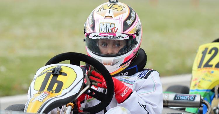 Sofia Necchi al debutto nella categoria Mini della Championkart