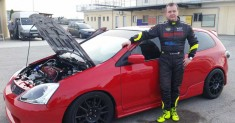 Roberto Malvasio testa la Honda Civic al Master Drivers