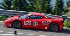 Luca Gaetani e la sua Ferrari presenti al 27° Trofeo Scarfiotti Sarnano-Sassotetto