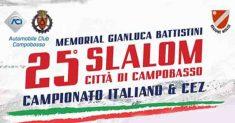 Sono 90 i piloti iscritti al XXV Slalom Città di Campobasso – Memorial Gianluca Battistini