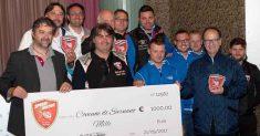 La scuderia Speed Motor ha donato un assegno di 1000 euro al Comune di Sarnano