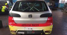 Giovanni Grasso e la sua Seat Ibiza TDI al via della 55ª edizione della Cronoscalata Svolte di Popoli