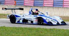 Arduino Giretti in gara con l'Osella PA 21/S nella tappa del Campionato Italiano Prototipi a Vallelunga