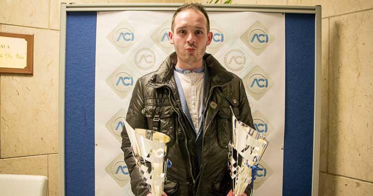 Luca Attorresi alle premiazioni nazionali AciSport