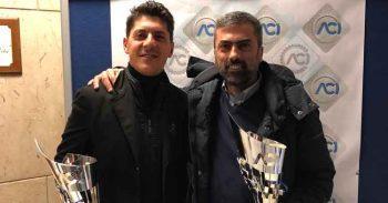 Luigi Gallo e Massimiliano Amicarella premiati da AciSport per la vittoria di classe nel TIVM Nord
