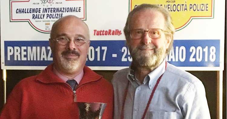 Stefano Bosi premiato a Bologna per il 2° posto nel Challenge dell'ACN Forze di Polizia