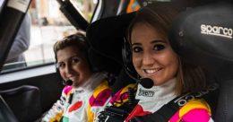 Rachele Somaschini al giro di boa del CIR al 51° Rally Elba