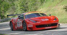 Luca Gaetani e la sua Ferrari 458 GT3 alla 68ª Trento Bondone