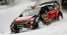 Craig Breen e Mikko Hirvoneen in gara al Rally Legend