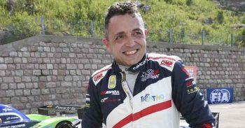 Christian Merli, all'esordio con la Skoda Fabia R5, in gara al Prealpi Master Show