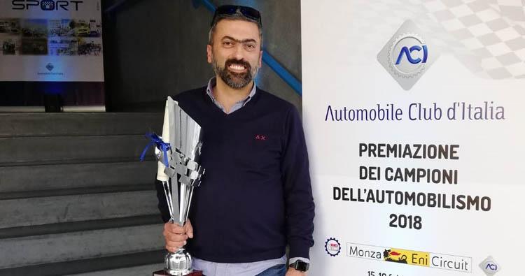 Massimiliano Amicarella premiato da Aci Sport per la vittoria nella classe 2000 della Racing Start nel TIVM Nord