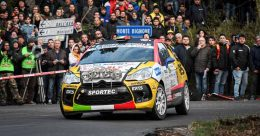 Rachele Somaschini sul palco del 66° Rallye Sanremo
