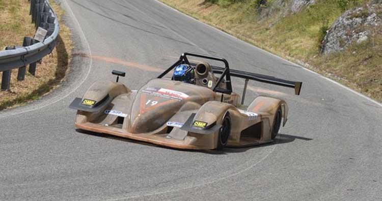 Denny Molinaro in gara a Luzzi su Osella