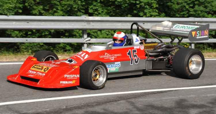 Stefano Peroni su Martini MK 32 cala il tris con il nuovo record nella 10ª Cronoscalata Storica dello Spino