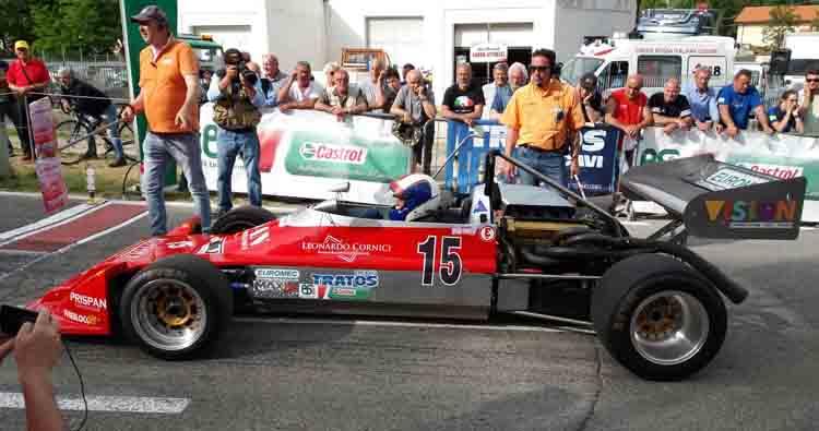 Stefano Peroni su Martini MK 32 prenota il tris consecutivo nella 10ª Cronoscalata Storica dello Spino