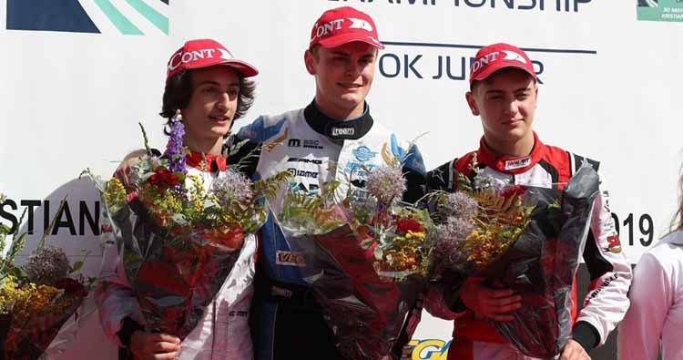 Podio Tricolore nel Campionato Europeo FIA Karting in Svezia con Travisanutto, Minì e Coluccio