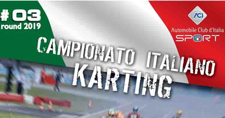 Il 7 luglio a Sarno la terza prova del Campionato Italiano ACI Karting