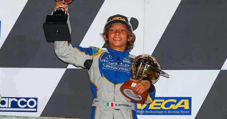 Nell'ambito della WSK Euro Series, Antonelli vince il titolo del Campionato Italiano nella OK-Junior, Beganovic nella OK