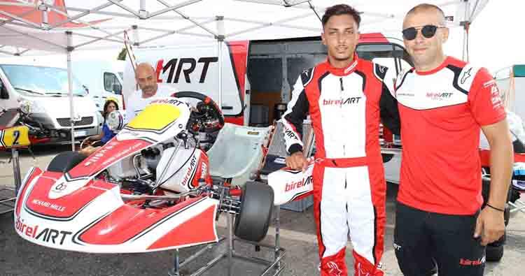 Colpo di scena in KZ2, Palomba va con BirelArt per la chiusura del Campionato Italiano ACI Karting a Val Vibrata