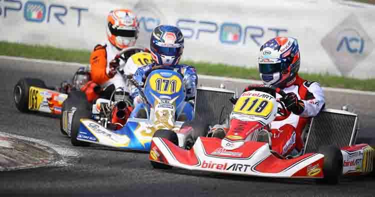 Palomba e Celenta dettano legge in KZ2 nelle manche del Campionato Italiano ACI Karting a Val Vibrata