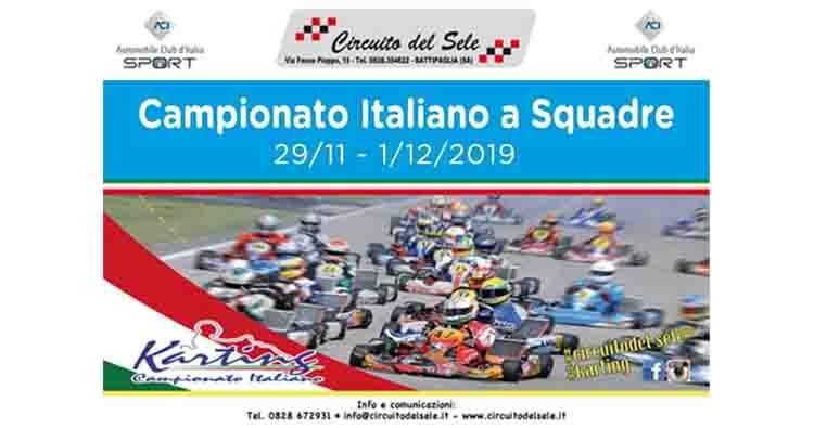 Il 1° dicembre a Battipaglia l'appuntamento conclusivo del Campionato Italiano Karting per Squadre Regionali