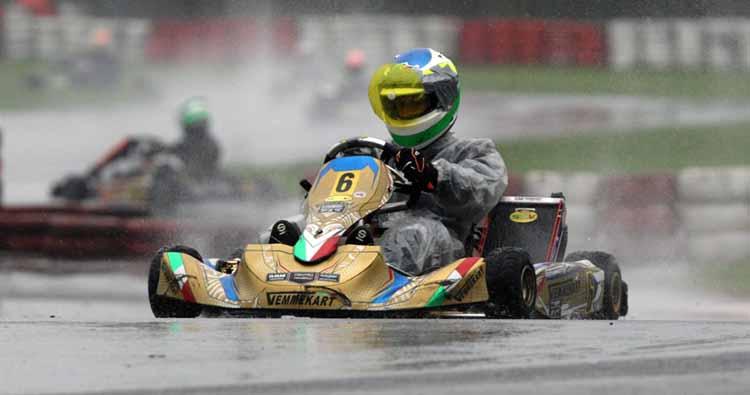 La pioggia riserva qualche sorpresa nel Trofeo Nazionale ACI Karting a Viterbo