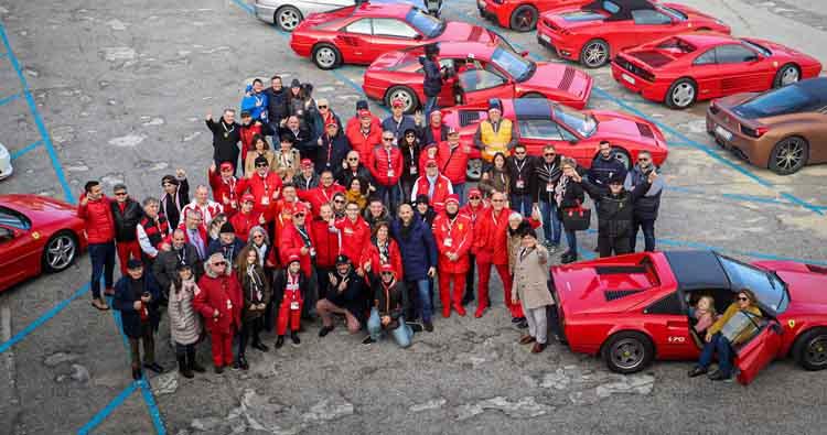 Grande successo, a Trapani, per il ritrovo delle Scuderie Ferrari Club di tutta la Sicilia