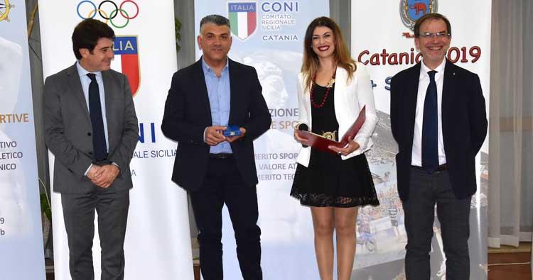 Domenico Cubeda premiato dal Coni Catania con la Medaglia al valore atletico